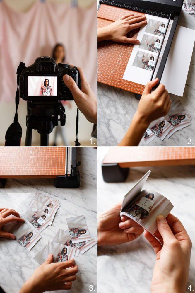 Libro de fotos con mensaje.
