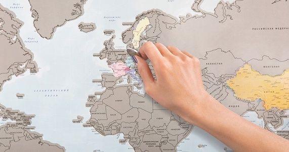 Mapa para rascar lugares vistados.