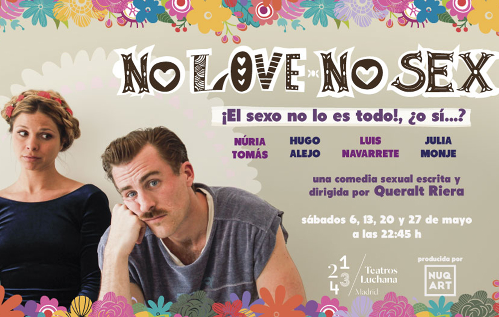 """Cartel de la obra de teatro """"Nolovenosex"""" para el que sorteamos entrada doble"""