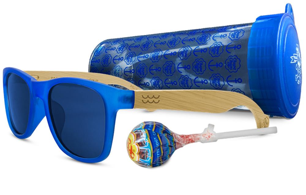 """Gafas """"Bruma"""" de la marca parafina & co inspiradas en el sabor cola de chupa chups, en color azul"""