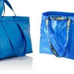 Bolso imitación de la bolsa de Ikea