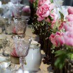 Decoración de mesa con flores Silvosa