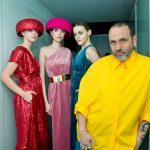 Maison Mesa diseñador con modelos en la MFBW Madrid 2020