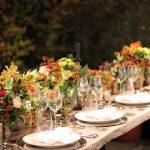 Decoración mesa de boda flores Silvosa