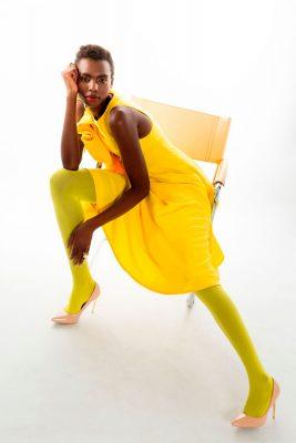 Vestido Amarillo nueva colección Bastian Viana Intimately Magazine