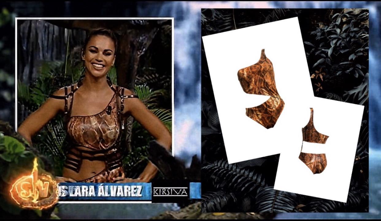 Lara Álvarez con bikini Kirsiva en Supervivientes 2020