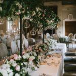Decoración floral mesa nupcial, Silvosa hermanos